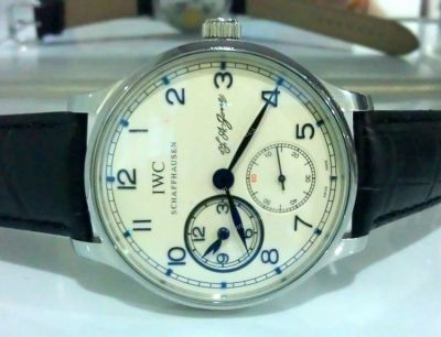 IWC Portuguese F.A Jones Chronograph SS White Automatic Watch